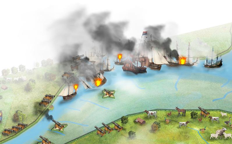 westbrabantse_Waterlinie_illustratie_historisch_studiobliq_zeeslag