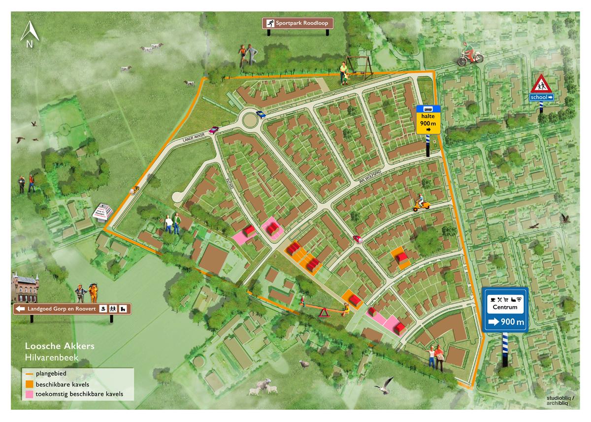 studio_bliq_plattegrond_gemeente_hilvarenbeek_plan_illustratie