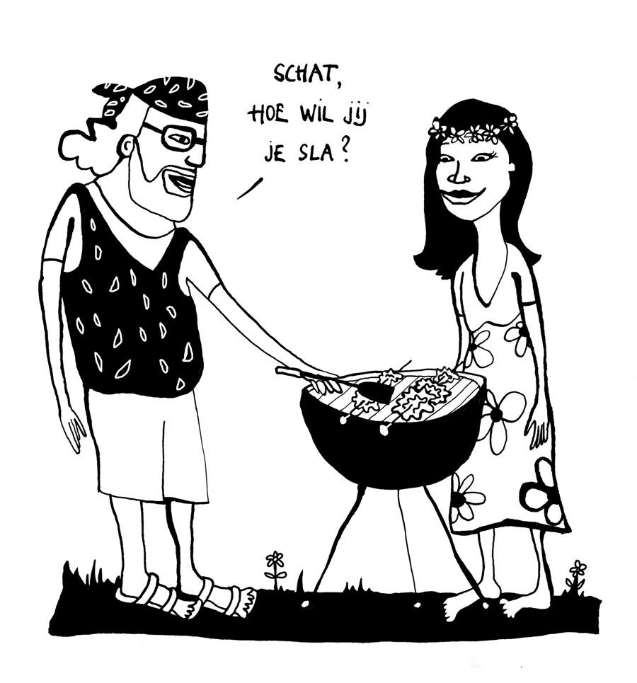 cartoon_tekening_illustratie_studio_bliq_verjaardag_barbecue_sla