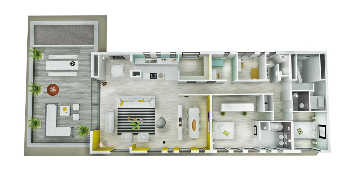 Archibliq_Jawel_Expressie_Nieuwstraat_3d_plattegrond_penthouse